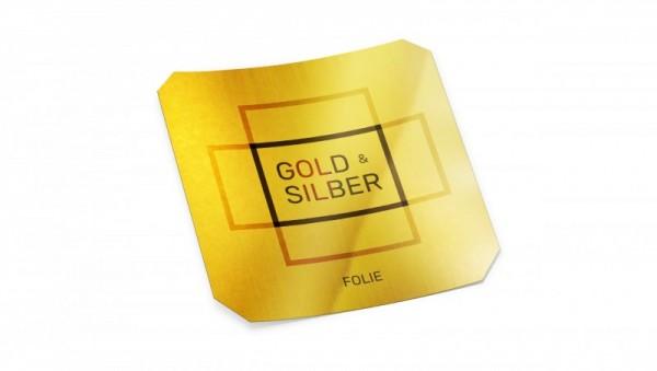 Aufkleber Gold-silberfolie