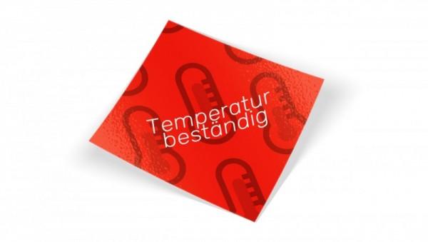 Aufkleber Temperaturbeständige Aufkleber